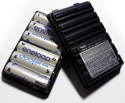 Eneloop AA battery for Yaesu FT-60